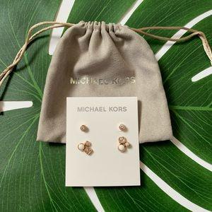 Michael Kors Rose Gold Set of Earrings